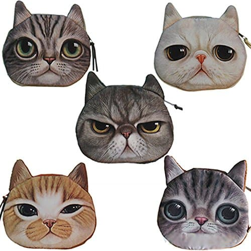 Cat Face Coin Pouch | gift ideas for best friends