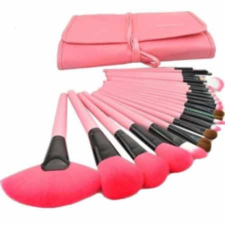 Professional Wool Cosmetic Makeup Brush Set