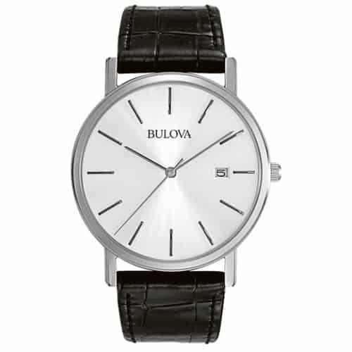 Bulova Men's Strap Silver Dial Watch