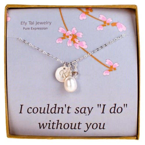 Efy Tal Personalized Bridesmaid Initial Necklace