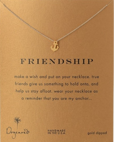 "Dogeared ""Friendship"" Pendant Necklace 