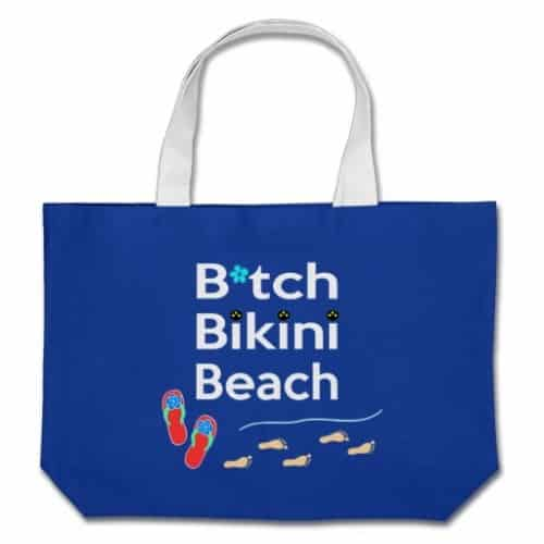 The Beach Bag in royal blue