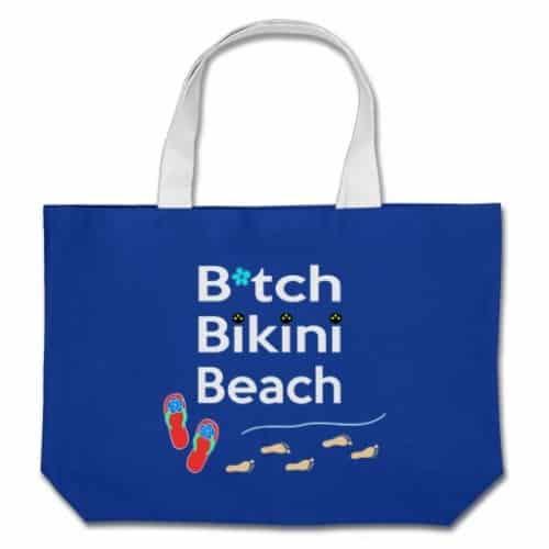 The Beach Bag in royal blue