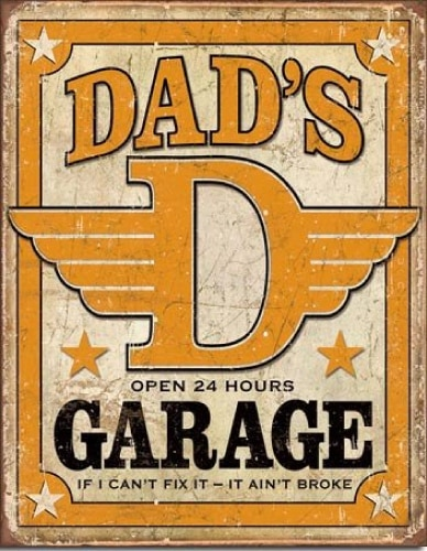 Dad's Garage Tin Sign