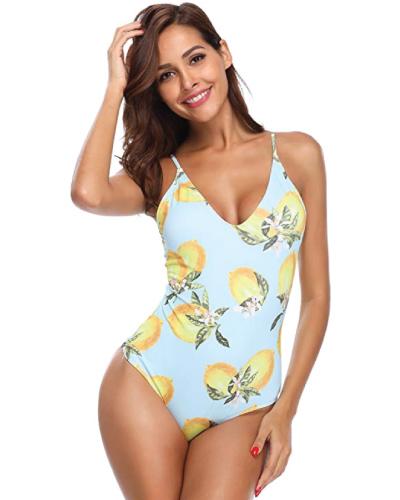 MarinaVida V-Neck One Piece Bathing Suit