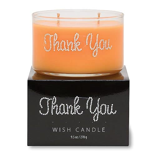 farewell gift ideas for coworkers - Thank You Wish Candle