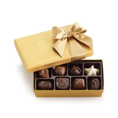 GODIVA Chocolatier Classic Gold Ballotin - farewell gift ideas for coworker