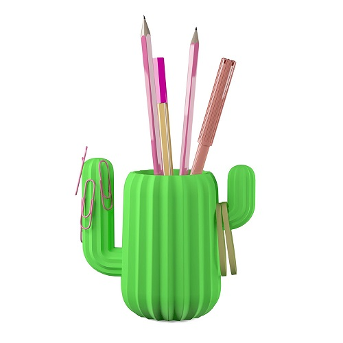 Green Cactus Desktop Organizer - farewell gift ideas for coworker