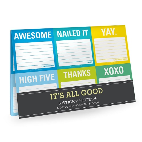 Knock Knock It's All Good Sticky Note Pack - farewell stationery gift ideas - office gift