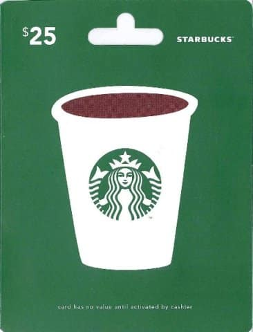 Starbucks Gift Card - farewell gift ideas for coworker