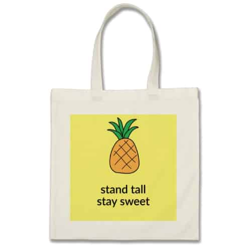 The Pineapple Book Bag. College essentials. Off to college gift ideas for girls.