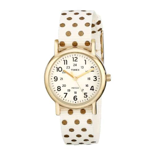 Timex Weekender Gold-Tone Watch