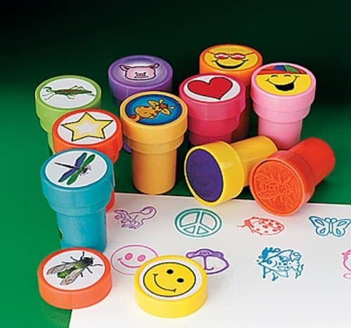 Assorted Plastic Stamps