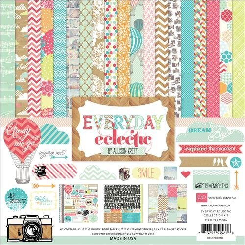 Everyday Eclectic Collection Scrapbooking Kit. Back to school gifts for kids.