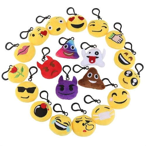 Emoji Mini Plush Pillow Keychain