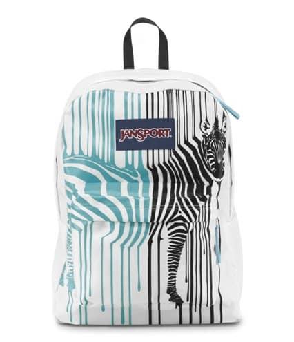 JanSport Zebra School Bag. Back to school gifts for kids.