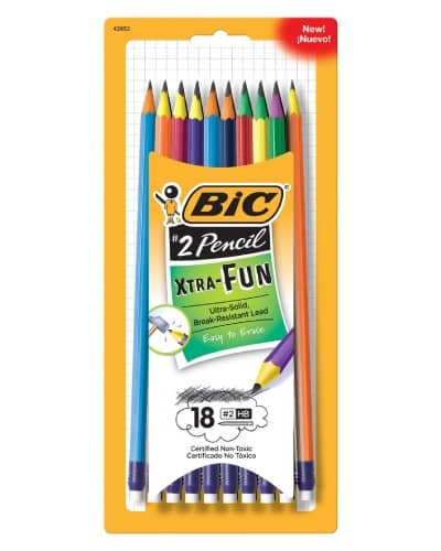 BIC Pencil Xtra Fun. school supplies. Back to school gifts for kids.