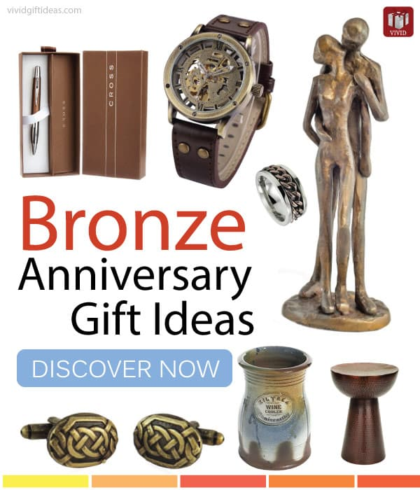 8th wedding anniversary traditional gifts bronze or for Best marriage anniversary gifts