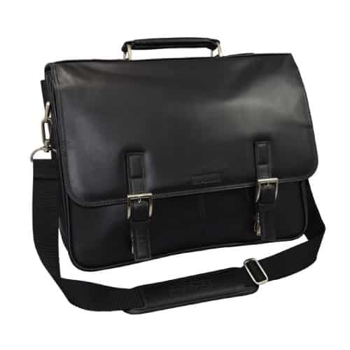 "Kenneth Cole Collection ""A Brief History"" Leather Briefcase Bag"