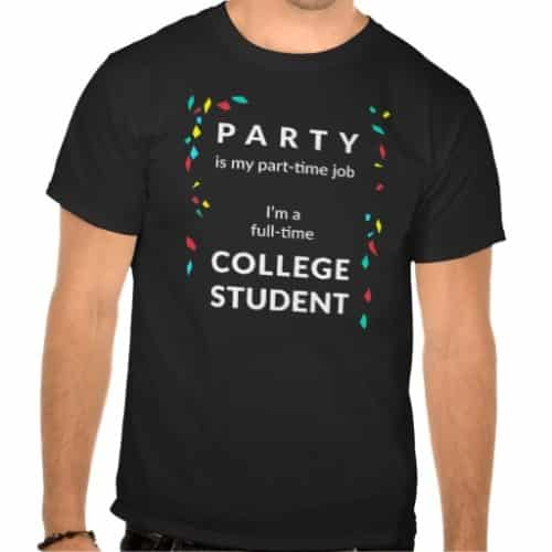 Double Fun College Party Shirt | Off to College Gifts