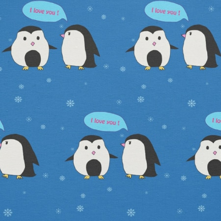 Penguin Couple Fabric