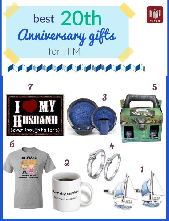 20th Anniversary Gifts for Him