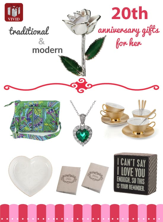 27 Nice Gift Ideas For 20th Wedding Anniversary