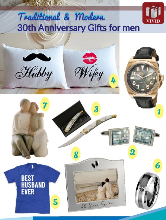 Pearl Anniversary Gifts for Him