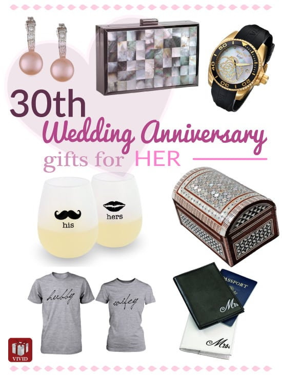 30th Wedding Anniversary Gift Ideas For Wife : handpicked traditional pearl gifts and modern 30th anniversary gifts ...
