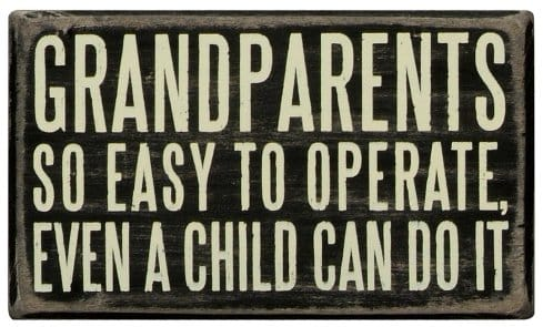 Grandparents Box Sign