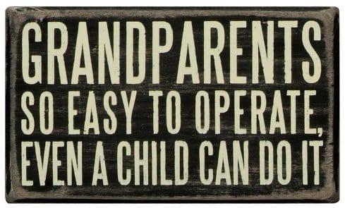 Grandparents Box Sign