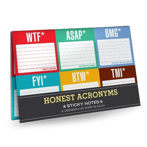 Honest Acronyms Sticky Notes Pack