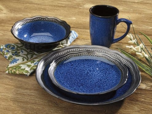 Cuisinart Stoneware Jenna Blue Collection Dinnerware Sets
