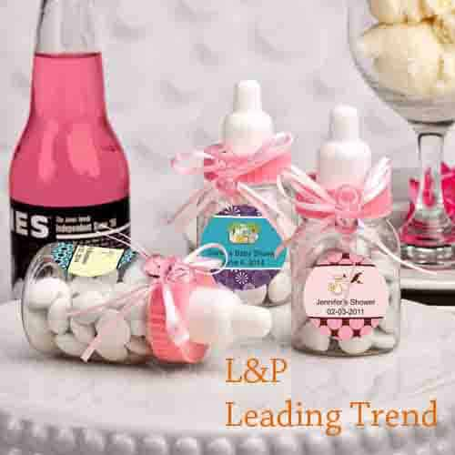Pink Baby Bottle Shower Favor