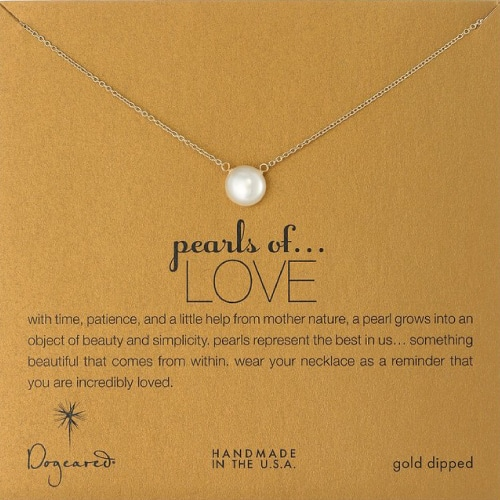 Dogeared Pearls of Love Freshwater Pearl Necklace
