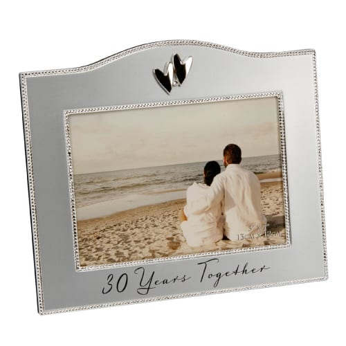 30 Years Together Wedding Anniversary Photo Frame By Haysom Interiors