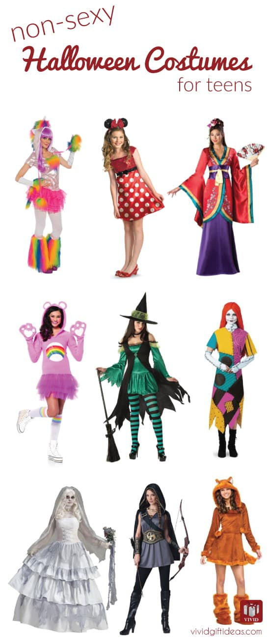 non sexy Halloween costumes for teens