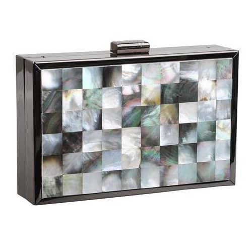 Artisan Mother of Pearl Clutch Evening Bag