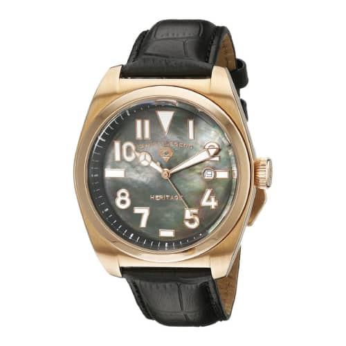 Swiss Legend Men's Heritage Black Mother-Of-Pearl Watch
