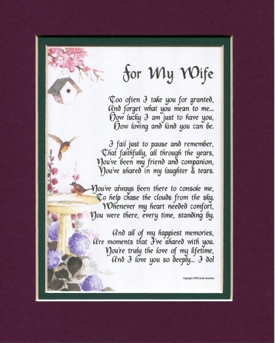 A Poem For A Wife