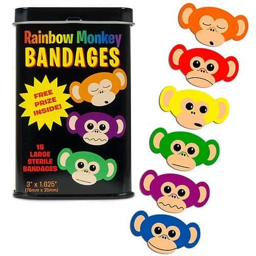Rainbow Monkey Band-aids