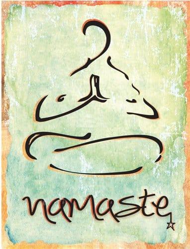 Namaste Metal Sign