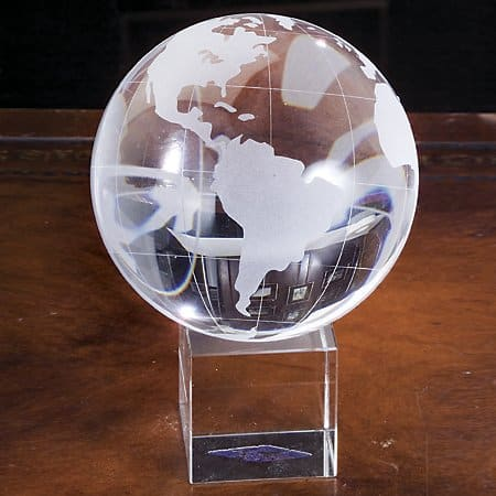 Godinger Crystal Globe On Stand
