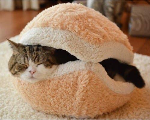 Hamburger Cat Bed House