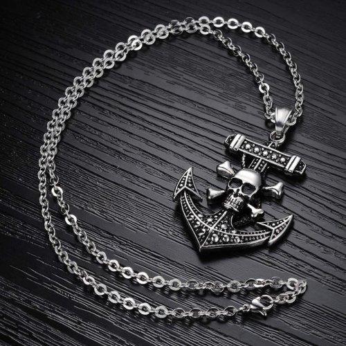 Pirate Skull Pendant Necklace