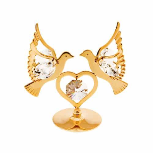 Golden Love Birds Figurine