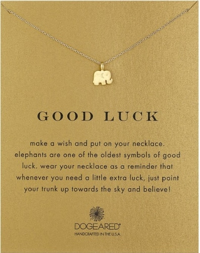 Dogeared Good Luck Elephant Pendant Necklace