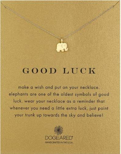 Dogeared Good Luck Elephant Pendant Necklace