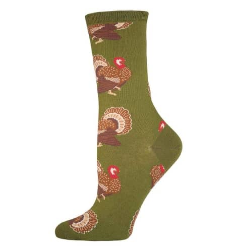 Thanksgiving Turkey Crew Sock