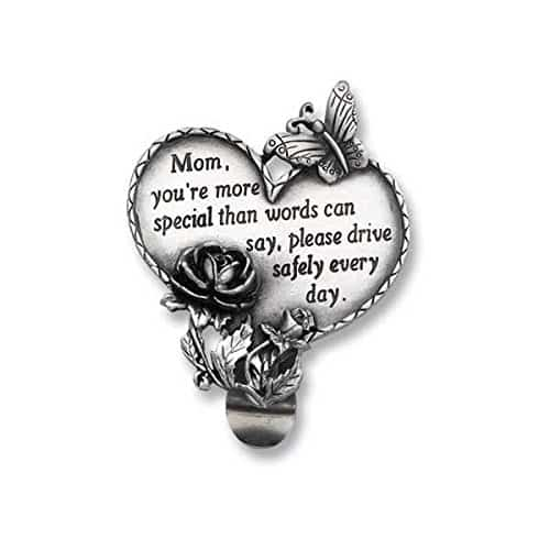 Mom Heart Visor Clip